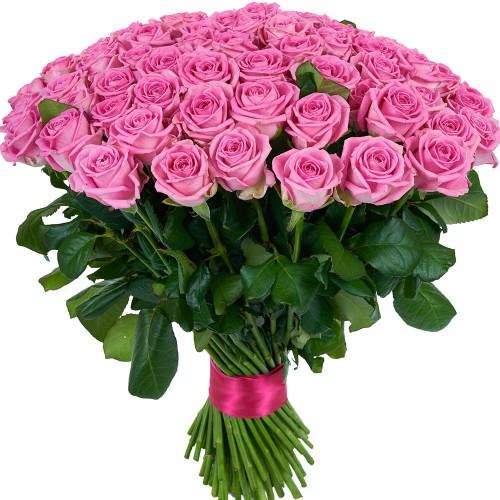 Купить на заказ Заказать Букет из 101 розовой розы с доставкой по Талдыкоргану с доставкой в Талдыкоргане