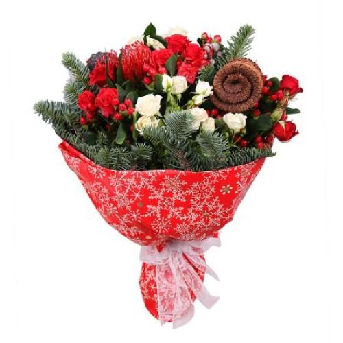 Купить на заказ Заказать Рождественский букет с доставкой по Талдыкоргану с доставкой в Талдыкоргане