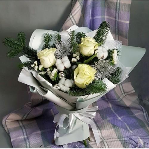 Купить на заказ Заказать Букет «Снежная королева» с доставкой по Талдыкоргану с доставкой в Талдыкоргане