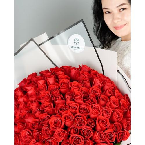 Купить на заказ Заказать Букет из 101 красной розы с доставкой по Талдыкоргану с доставкой в Талдыкоргане