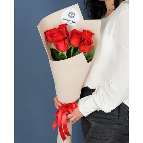 Купить на заказ Заказать Букет из 7 роз с доставкой по Талдыкоргану с доставкой в Талдыкоргане