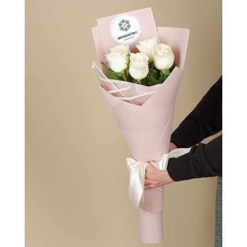 Купить на заказ Заказать Букет из 5 роз с доставкой по Талдыкоргану с доставкой в Талдыкоргане