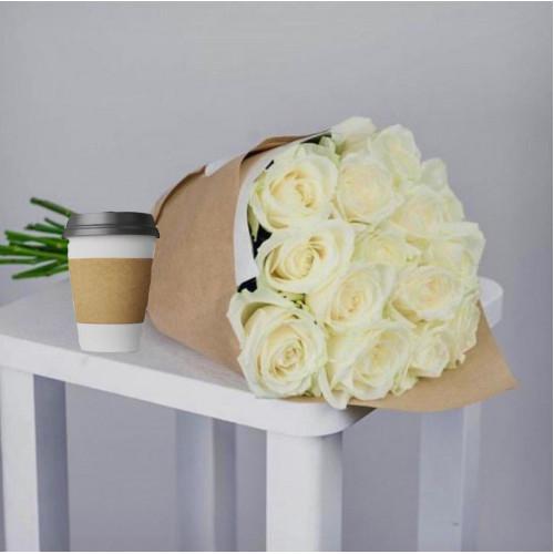 Купить на заказ Кофе с цветами с доставкой в Талдыкоргане