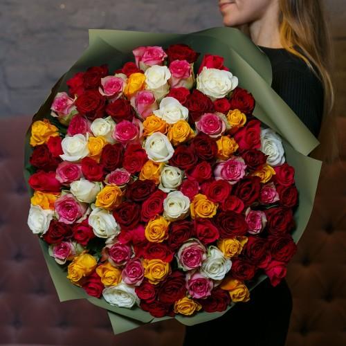 Купить на заказ Заказать Букет из 101 розы (микс) с доставкой по Талдыкоргану с доставкой в Талдыкоргане